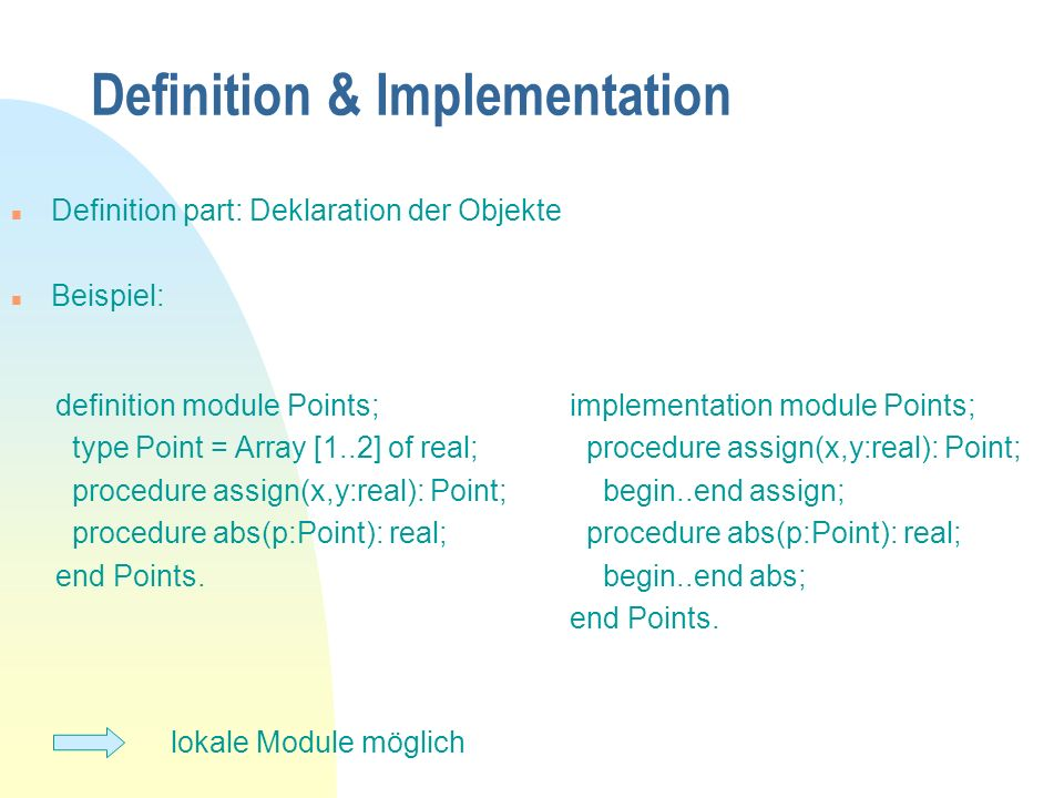 Definition & Implementation
