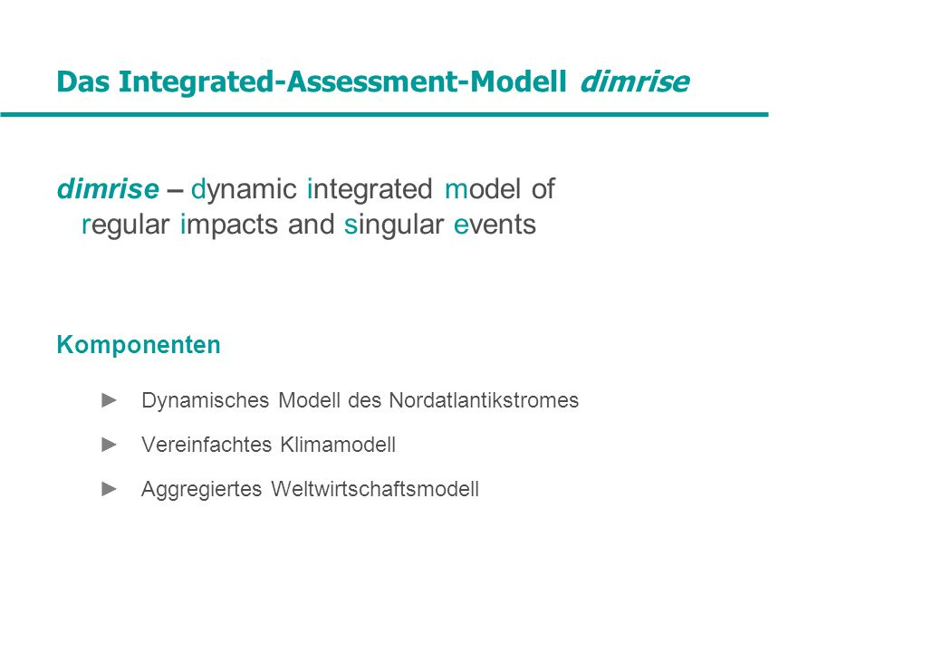 Das Integrated-Assessment-Modell dimrise