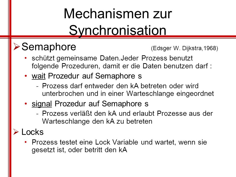 Mechanismen zur Synchronisation