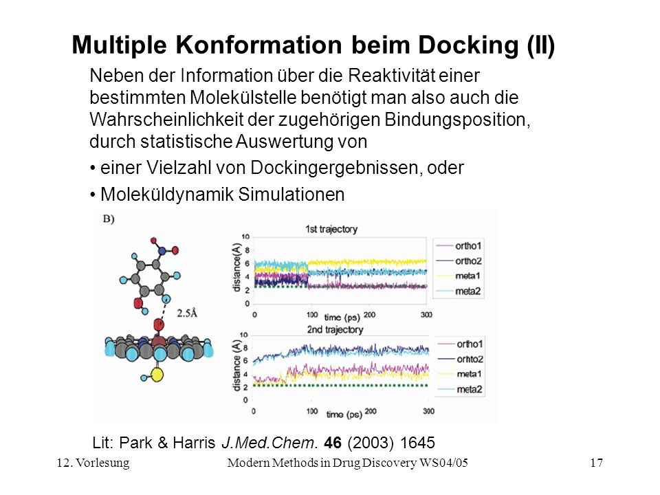 Multiple Konformation beim Docking (II)