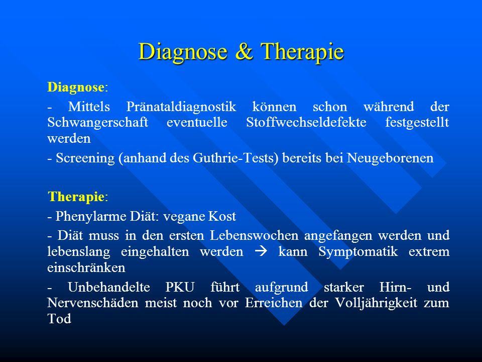 Diagnose & Therapie Diagnose: