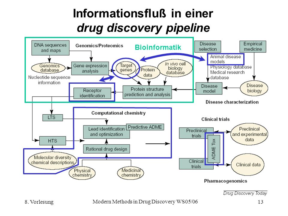 Informationsfluß in einer drug discovery pipeline