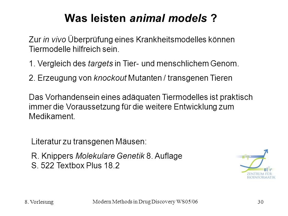 Was leisten animal models