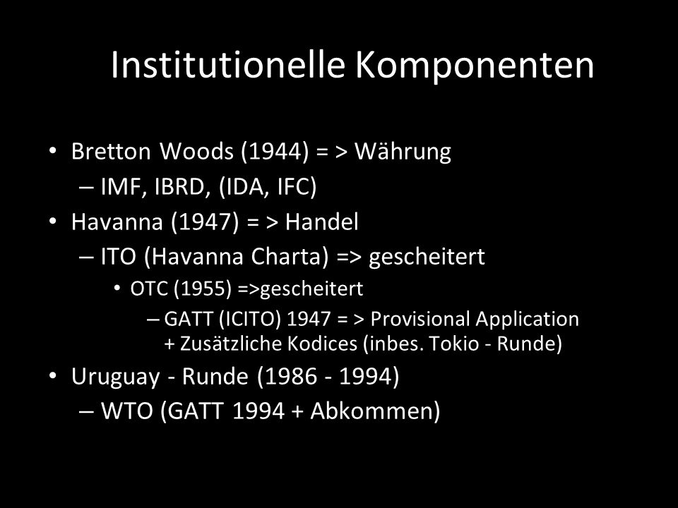 Institutionelle Komponenten