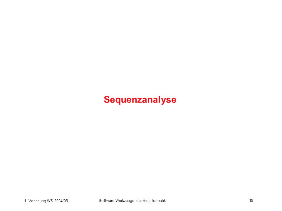 Sequenzanalyse 1