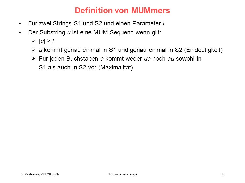 Definition von MUMmers