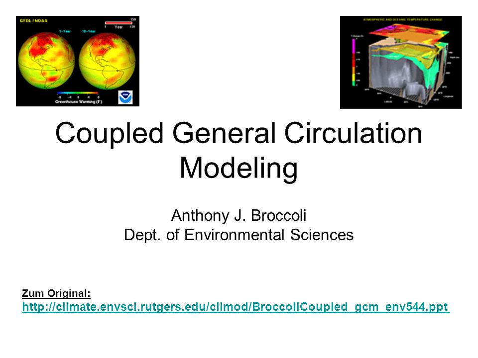 Coupled General Circulation Modeling