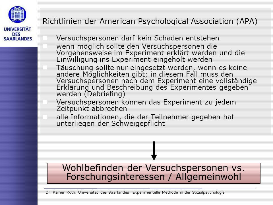Richtlinien der American Psychological Association (APA)