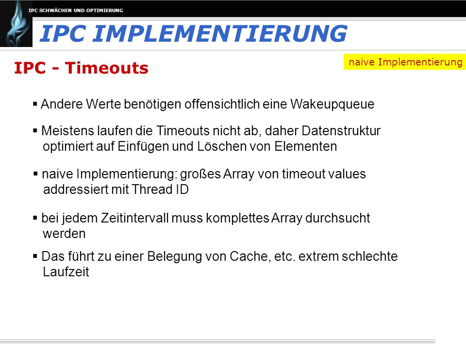 IPC IMPLEMENTIERUNG IPC - Timeouts