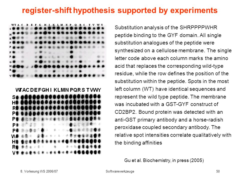 register-shift hypothesis supported by experiments