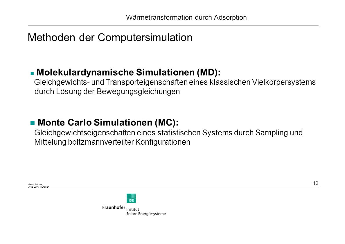 Methoden der Computersimulation
