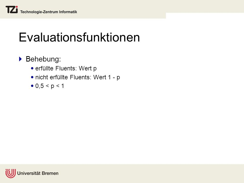 Evaluationsfunktionen