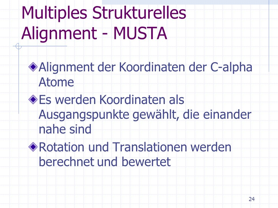 Multiples Strukturelles Alignment - MUSTA