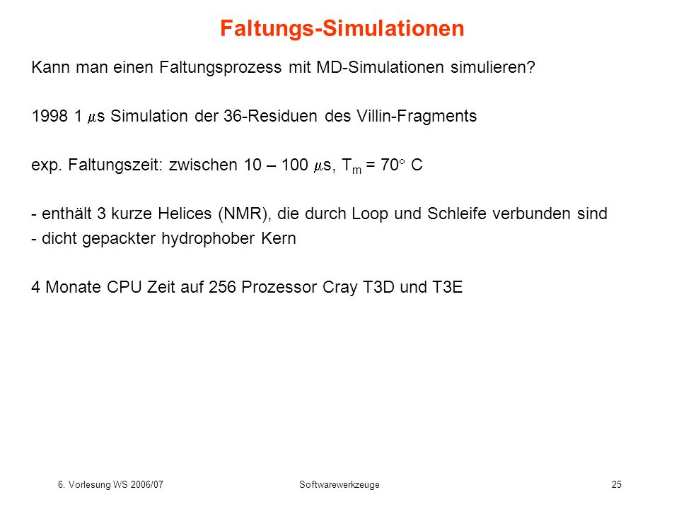 Faltungs-Simulationen