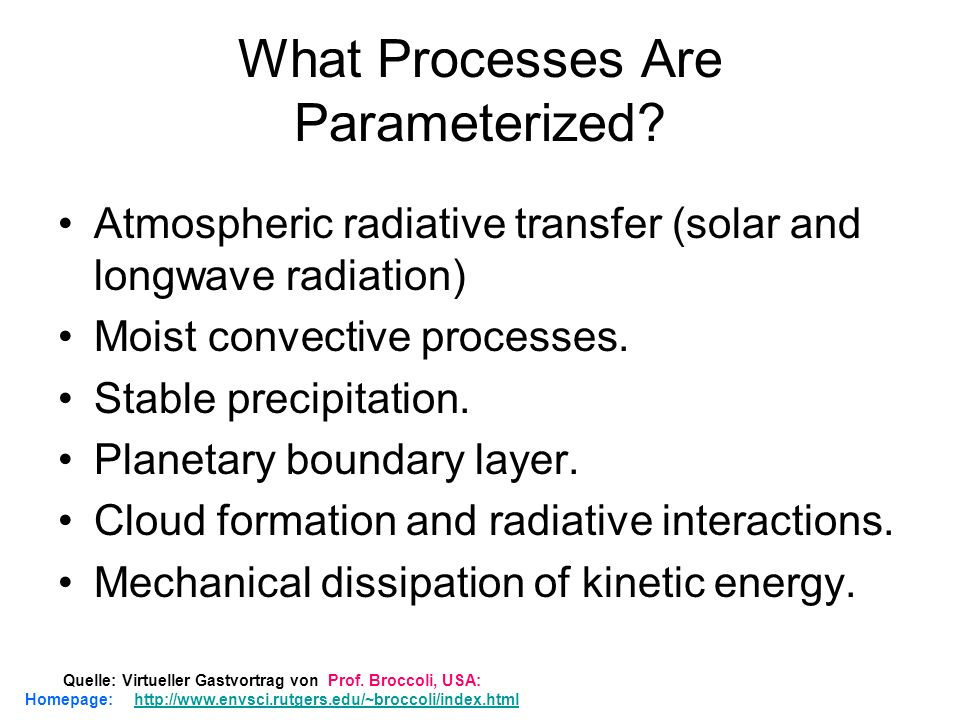 What Processes Are Parameterized