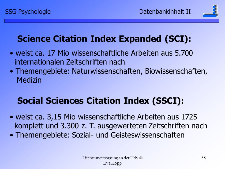 Science Citation Index Expanded (SCI):
