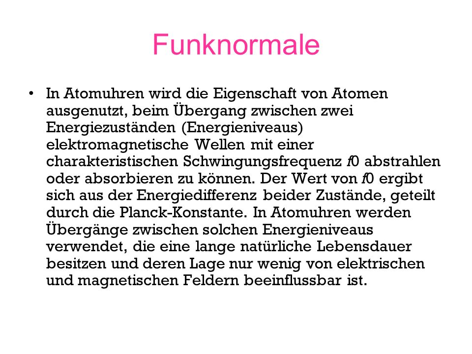 Funknormale