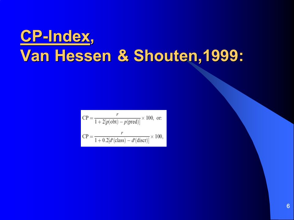 CP-Index, Van Hessen & Shouten,1999: