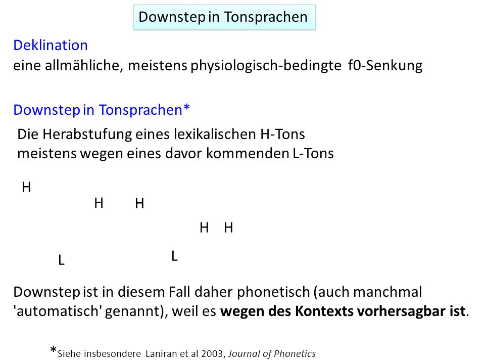 Downstep in Tonsprachen