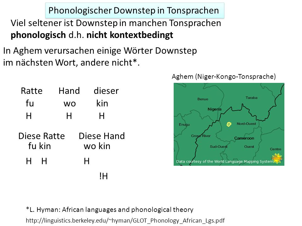 Phonologischer Downstep in Tonsprachen