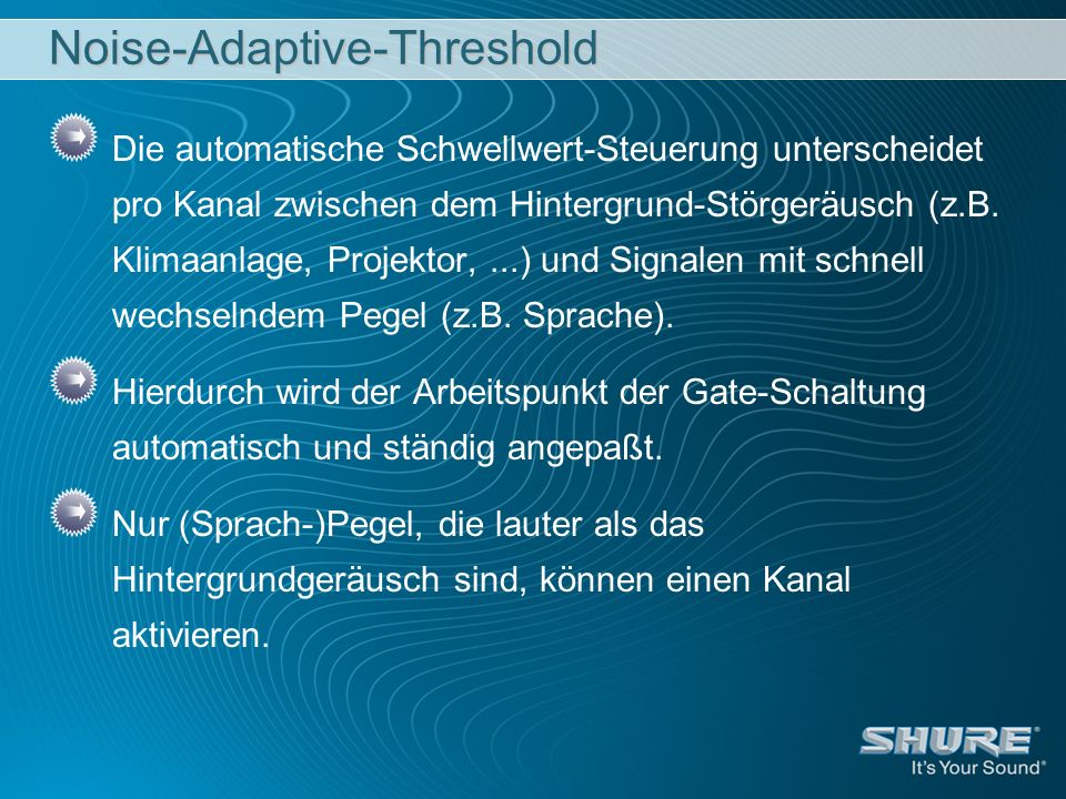 Noise-Adaptive-Threshold