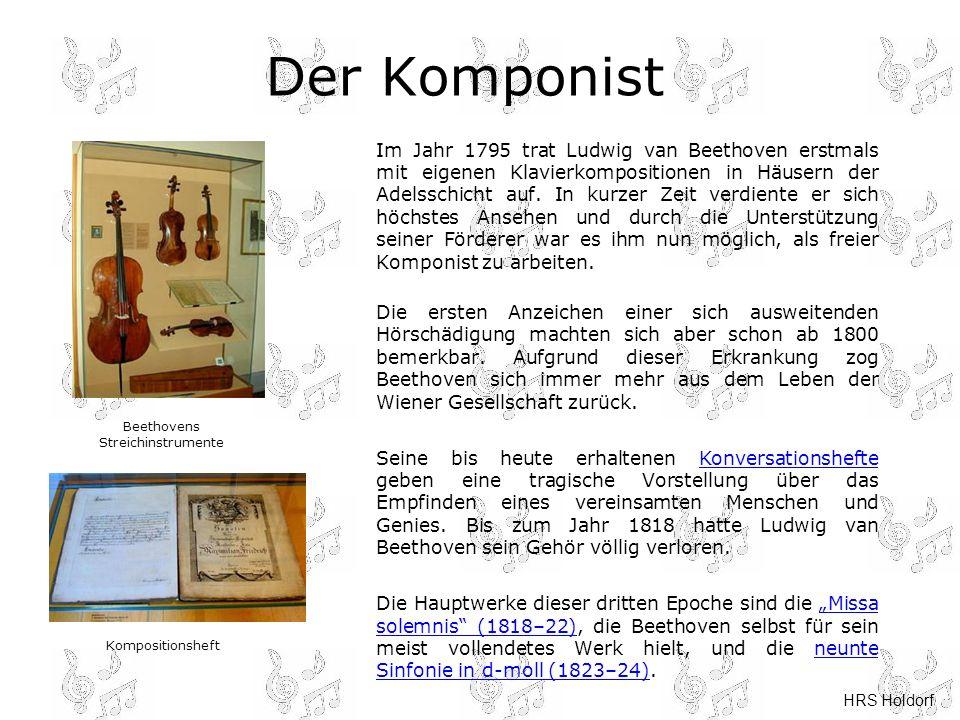 beethovens streichinstrumente - Beethoven Lebenslauf