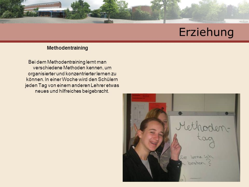 Erziehung Methodentraining