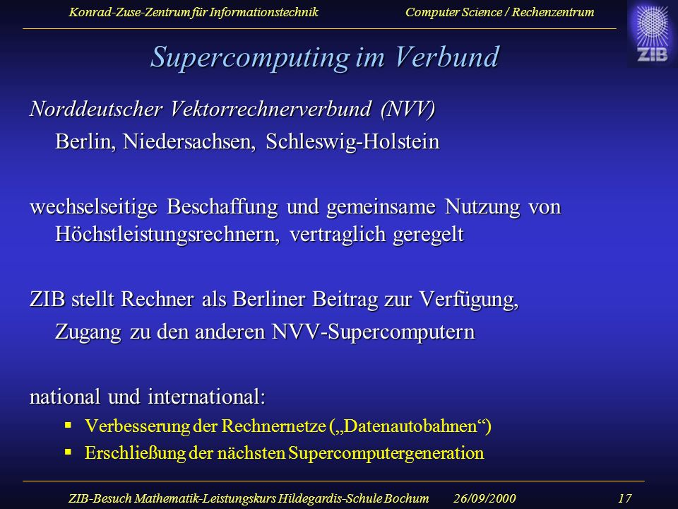 Supercomputing im Verbund