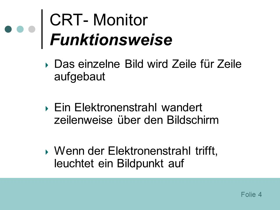 CRT- Monitor Funktionsweise