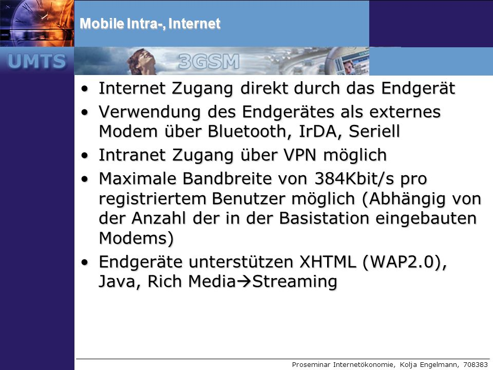 Mobile Intra-, Internet