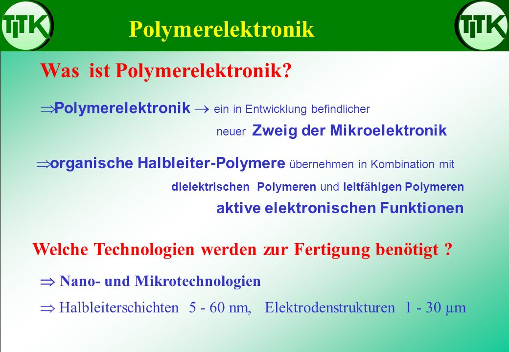 Was ist Polymerelektronik