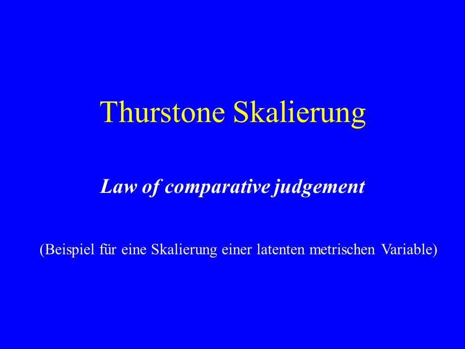 Law of comparative judgement