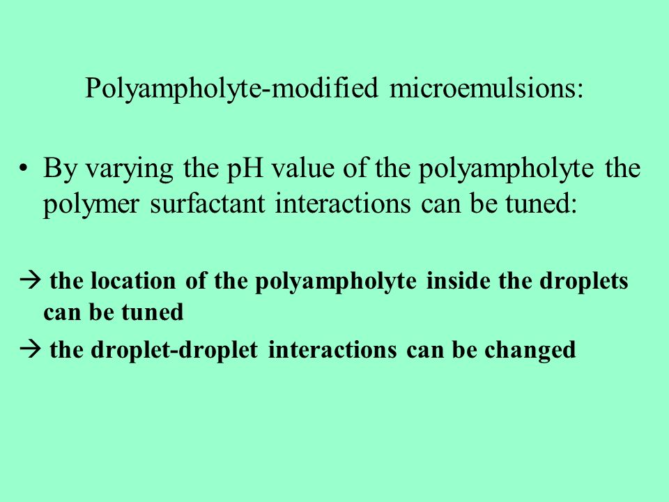 Polyampholyte-modified microemulsions: