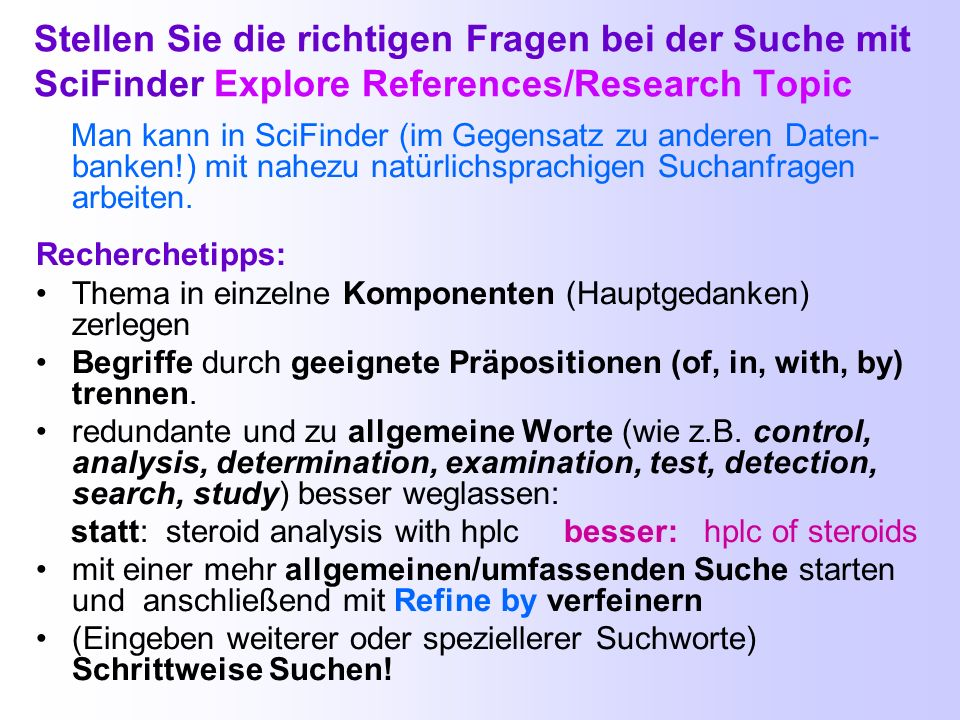 SciFinder-Webversion