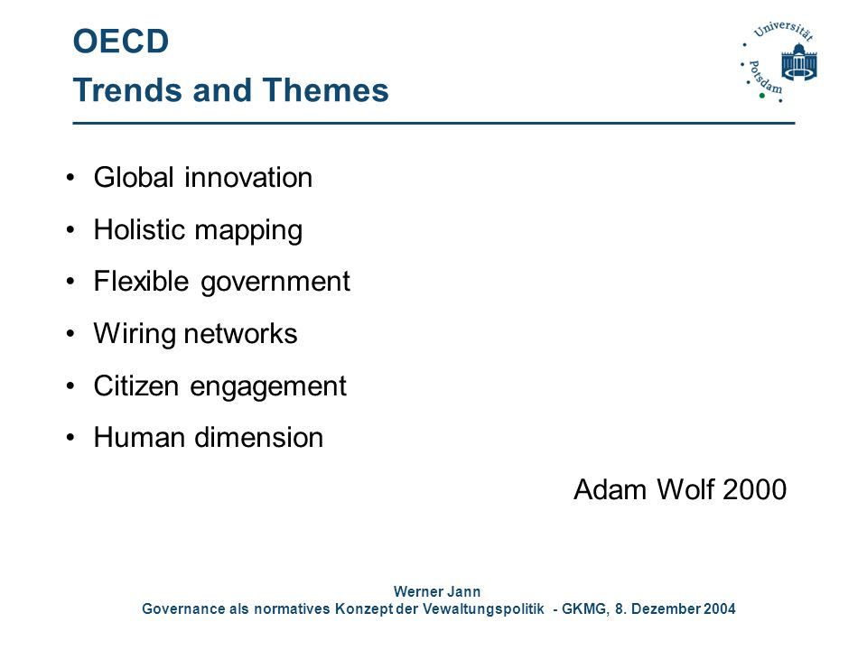 OECD Trends and Themes Global innovation Holistic mapping