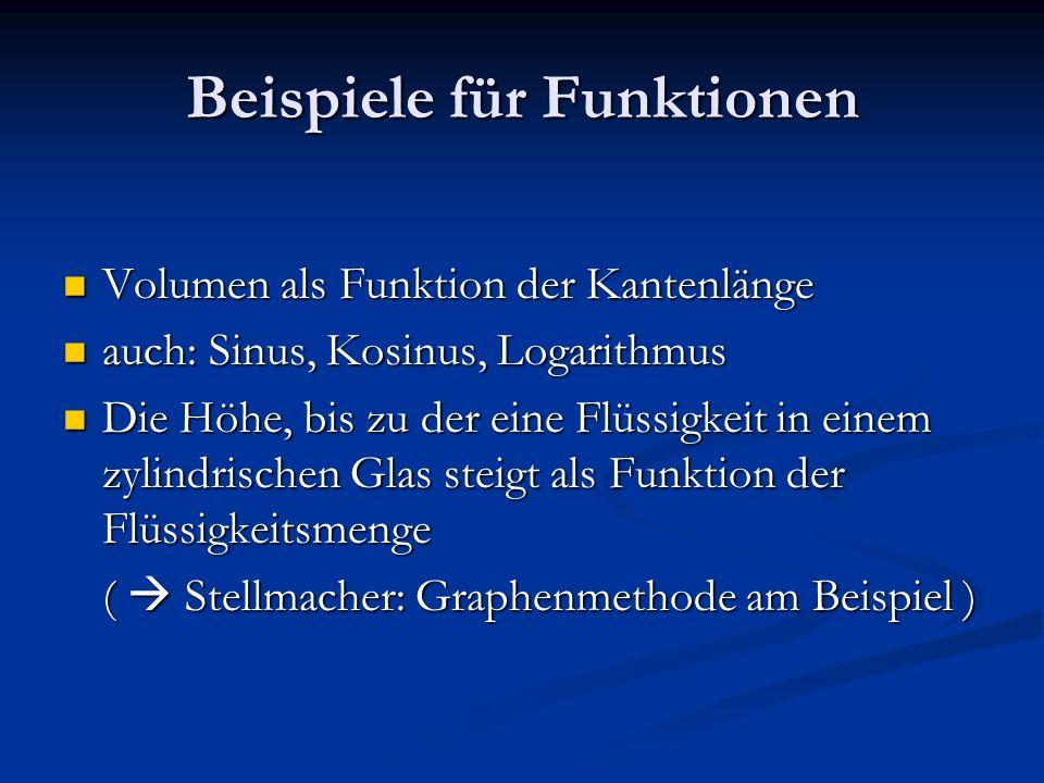 Der Funktionsbegriff Wie sich dem Begriff der Funktion im ...
