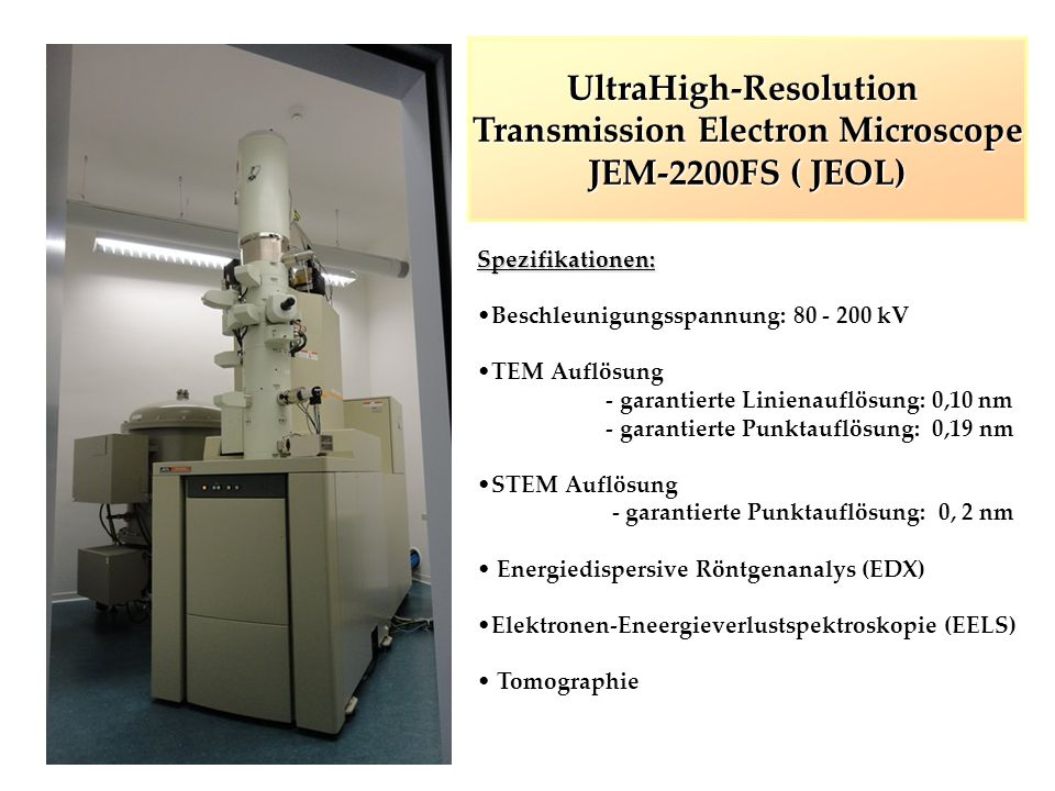 UltraHigh-Resolution Transmission Electron Microscope