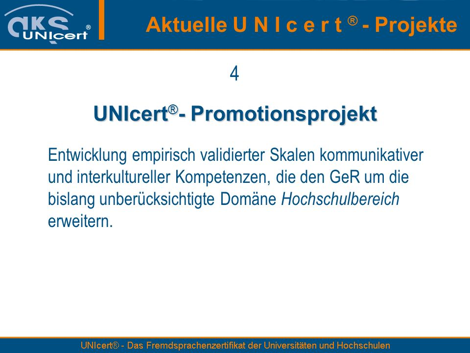 UNIcert®- Promotionsprojekt