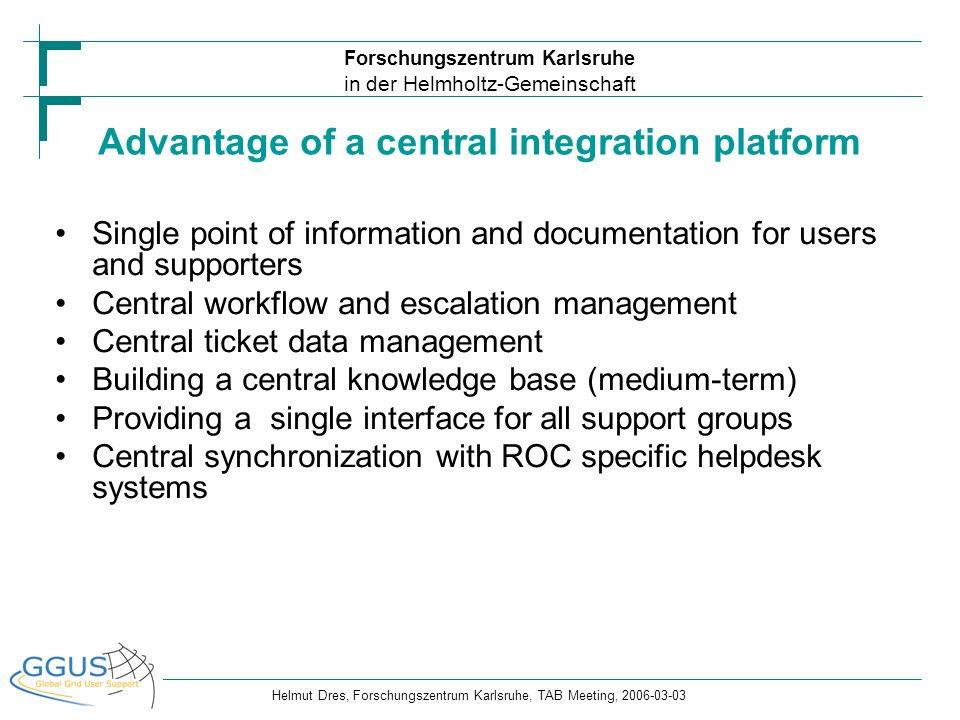 Advantage of a central integration platform