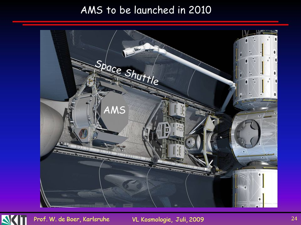 AMS to be launched in 2010 Space Shuttle AMS