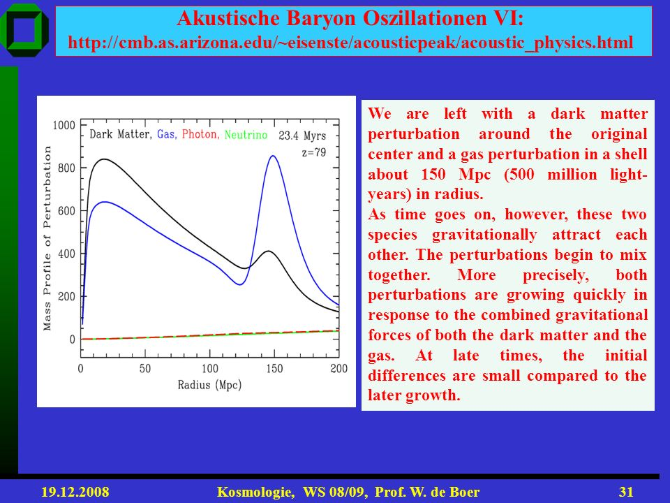 Akustische Baryon Oszillationen VI: http://cmb. as. arizona