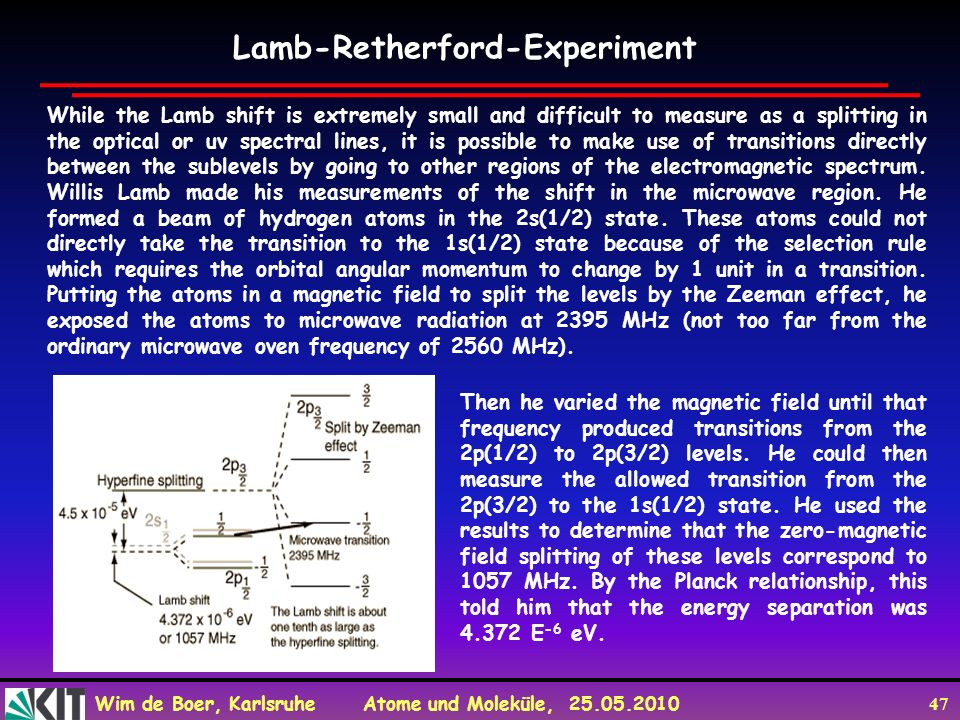 Lamb-Retherford-Experiment