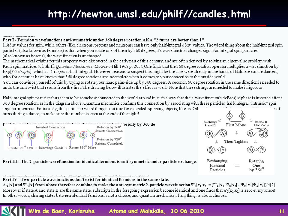 http://newton.umsl.edu/philf//candles.html Adapted from USENET postings and Feynman Quotes/pf961108.