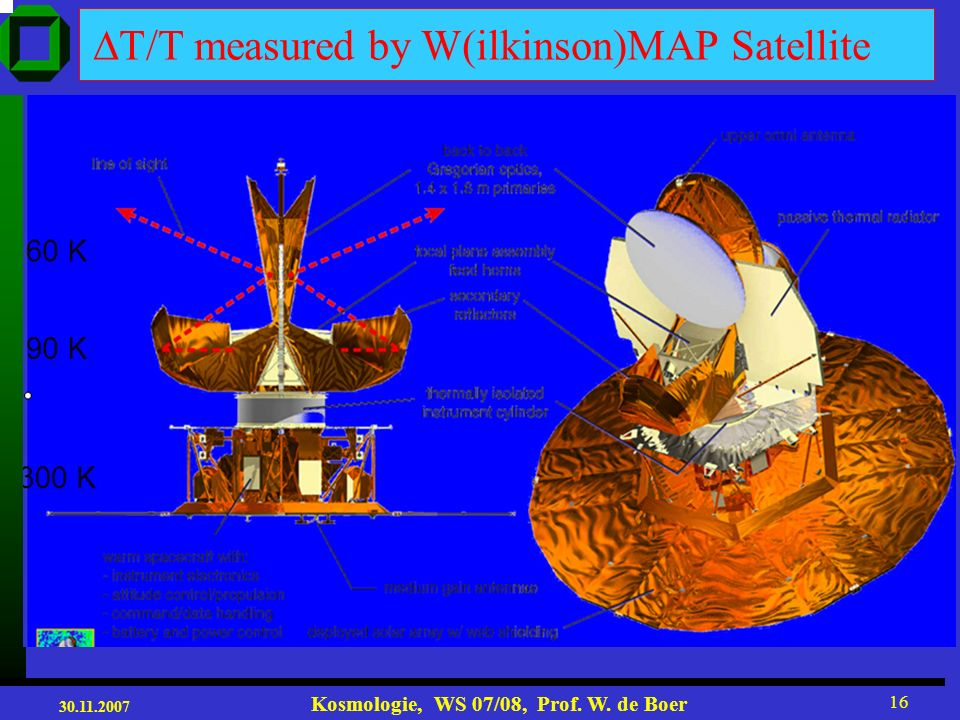 DT/T measured by W(ilkinson)MAP Satellite