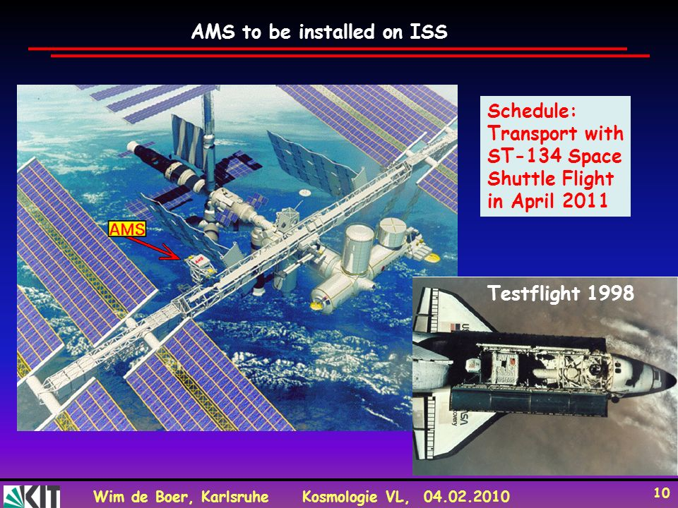 AMS to be installed on ISS