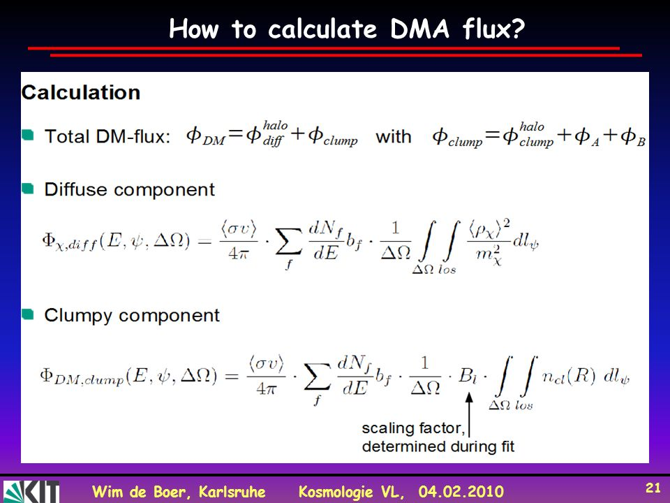 How to calculate DMA flux