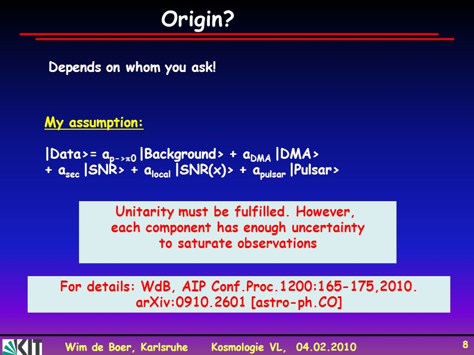 Origin Depends on whom you ask! My assumption:
