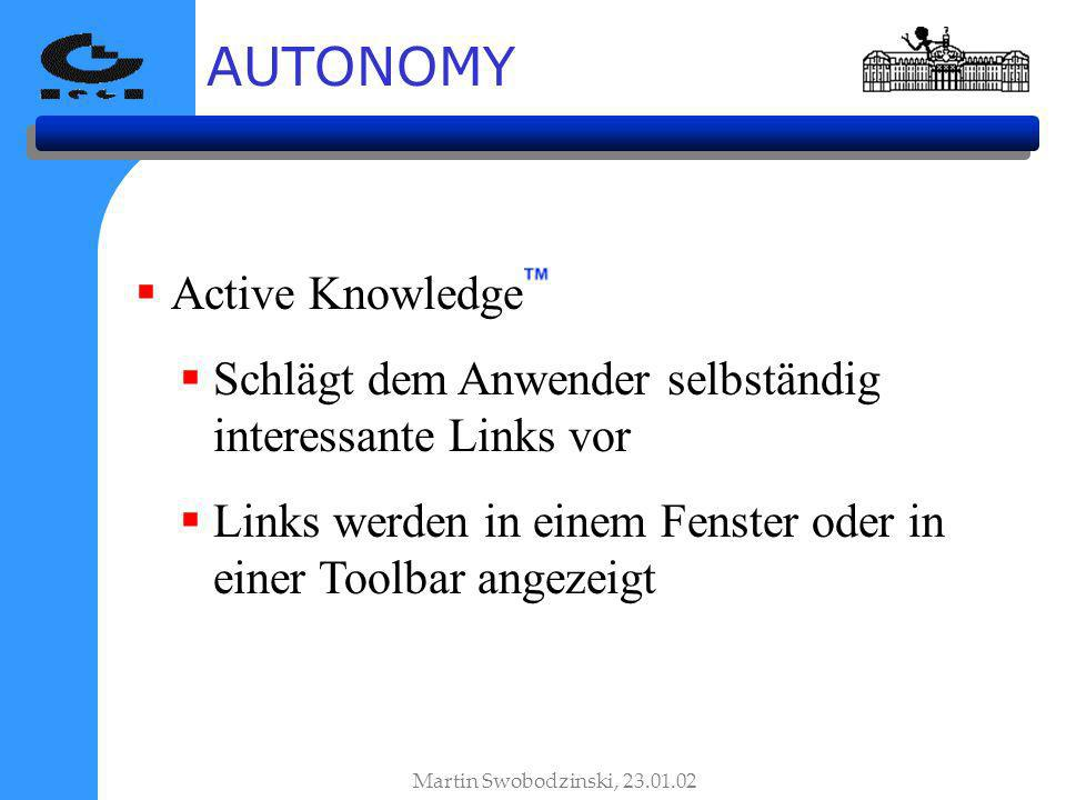 AUTONOMY Active Knowledge