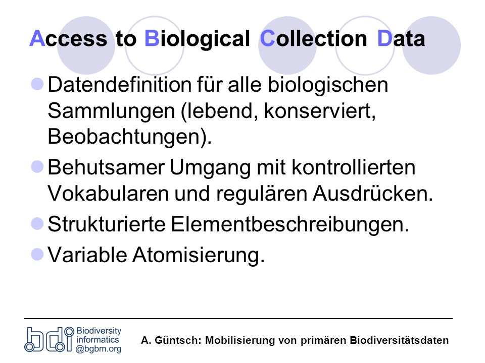 Access to Biological Collection Data