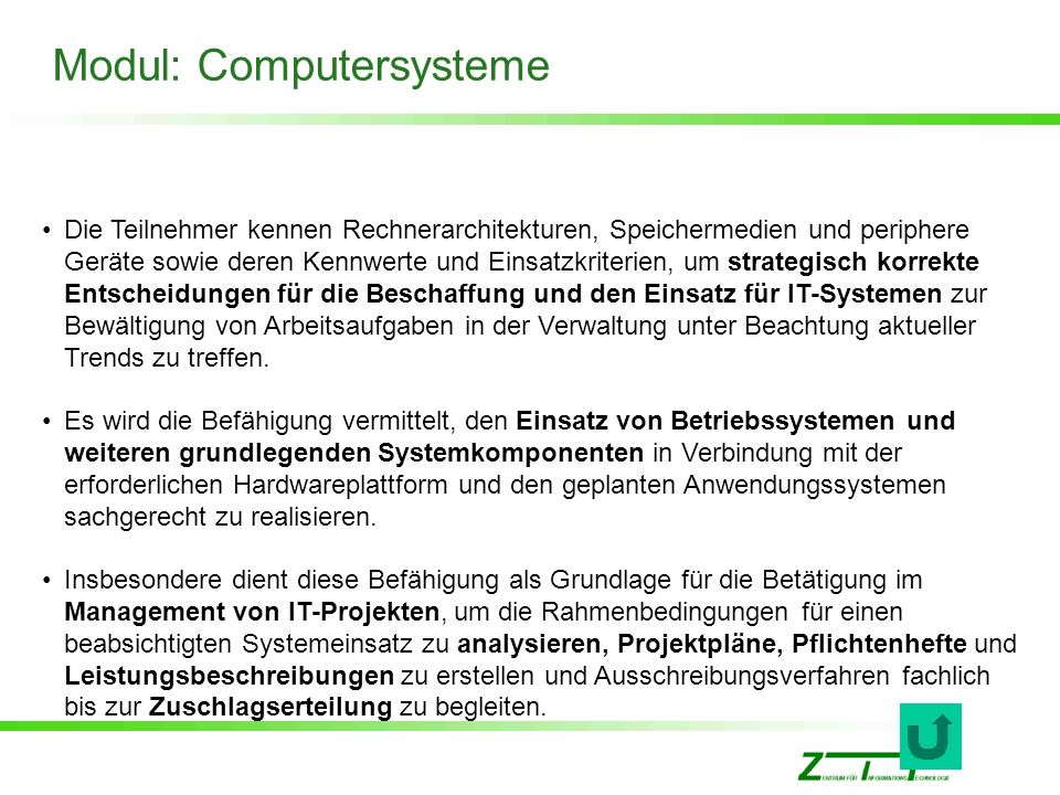 Modul: Computersysteme